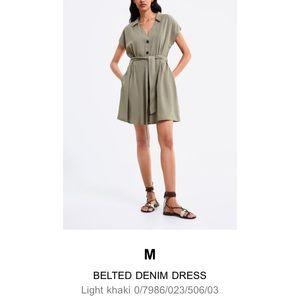 Zara Belted Dress Sz M